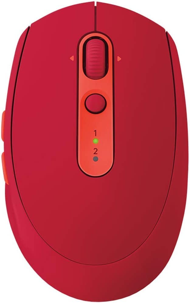 Gaming Mouse Multi-Device Mute Wireless Mouse Dual Mode Cross-Computer Control Mouse Ergonomics Color : Red