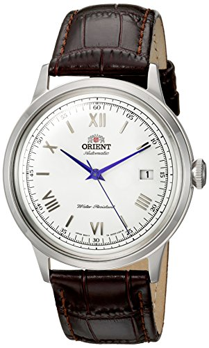 - Orient Men's '2nd Gen. Bambino Ver. 2' Japanese Automatic Stainless Steel and Leather Dress Watch, Color Brown (Model: FAC00009W0)