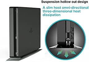 SMOS Vertical PS4 Slim Stand for SONY PlayStation 4 Slim, Perfect Fit with Original Console: Amazon.es: Videojuegos