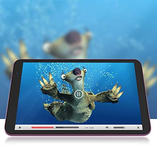 Tablet 8-Inch Android 10.0 Wi-Fi - VUCATIMES N8 Tablets, 32GB ROM, Quad-Core Processor, IPS HD Display, Dual Camera, Bluetooth 4.2, Purple