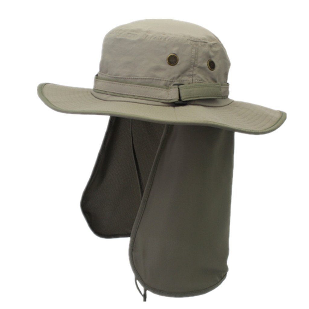 Home Prefer Unisex Quick Drying UV Protection Outdoor Sun Hat with Flap Neck Cover
