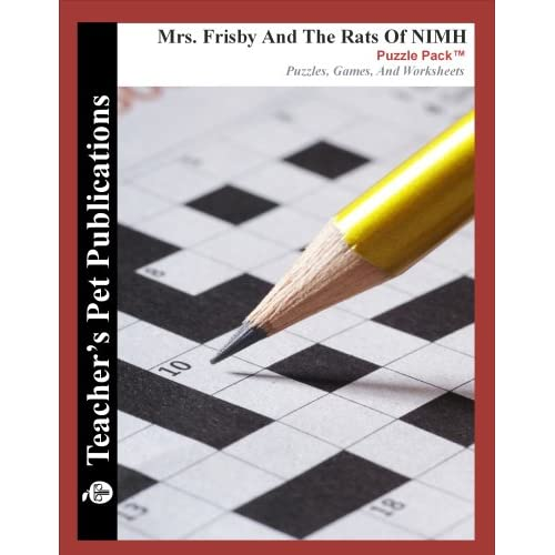 Teacher&#39s Resource Packet for Mrs. Frisby and... by Gary Walter ...