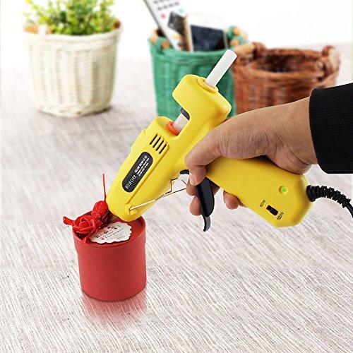 Hot Glue Gun, BOJECHER Full Size 60/100W Dual Power Hot Melt Glue Gun with 20pcs Glue Sticks (0.43 x 7.8) High Temperature Melt Adhesive Glue Gun Kit for Home DIY Craft Projects and Industrial Repair by BOJECHER (Image #4)