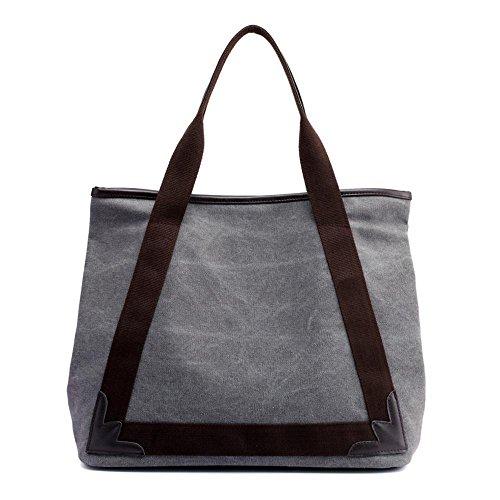 Penao señora terry, bolso de hombro elegante simple lona transpirable, tamaño 40cmx18cmx34cm Grey