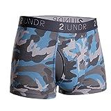 2UNDR Mens Swing Shift Trunk Boxers,Ice Camo,Medium