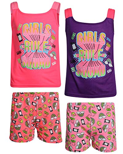 - Angel Face Girls' 4-Piece Short Pajama Set, Girls Rule, Size 14/16'