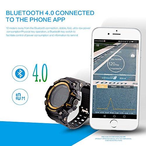 Amazon.com: Sports Smartwatch AOWO EX16 Pro Waterproof Smart Watch Bluetooth 4.0 5 ATM & IP67 Extra big Battery Capacity 720 Days Standby Wear Watch for ...