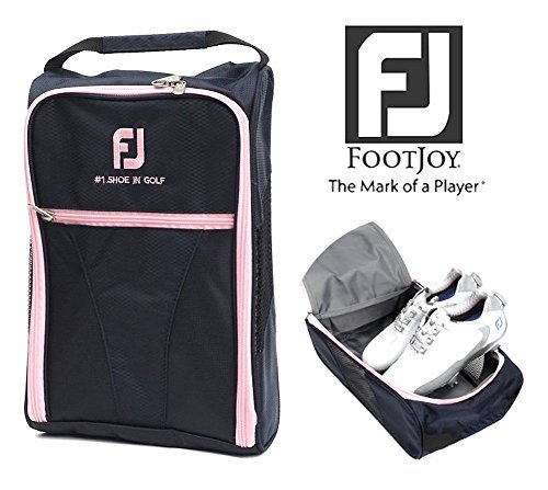 FootJoy Genuine Golf Shoes Bag Zipped Sports Bag Shoe Case - Pink Color by FootJoy