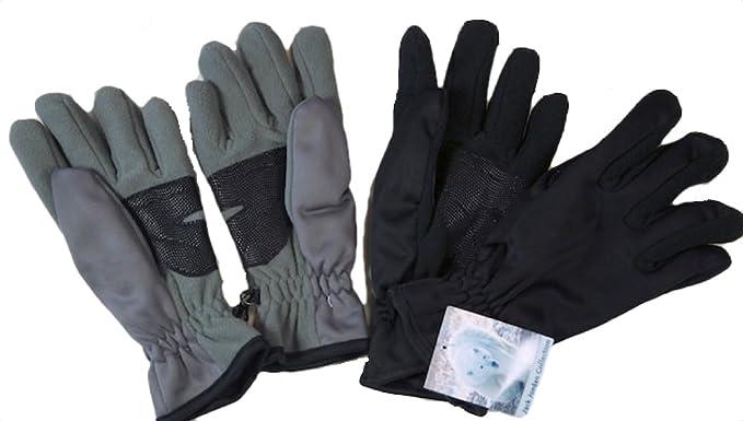 GLOUE Warme Handschuhe Damen Winter Grau Bekleidung Gr.S