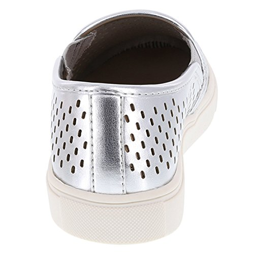 Brash Womens Perforated Crave Slip-On Silver uAAjYg