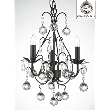 Wrought iron mini crystal chandelier chandeliers lighting w crystal wrought iron mini crystal chandelier chandeliers lighting w crystal balls aloadofball Images
