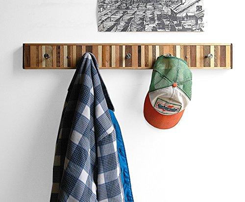 Coat Rack Reclaimed Wood, Entryway Organizer, Wooden Wall Coat Hook - Chonko Style
