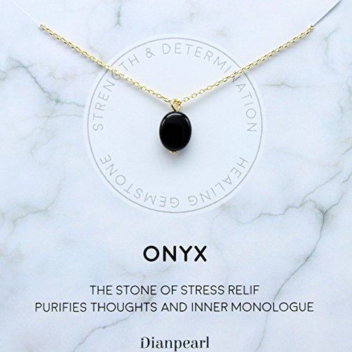 [Premium Gemstone] Onyx necklace, Best friend necklace, BFF Necklace, friendship necklace, Gold dainty necklace, pink necklace, natural stone, Mothers day gifts