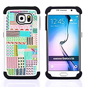 For Samsung Galaxy S6 G9200 - child hand drawing cute pen art Dual Layer caso de Shell HUELGA Impacto pata de cabra con im??genes gr??ficas Steam - Funny Shop -