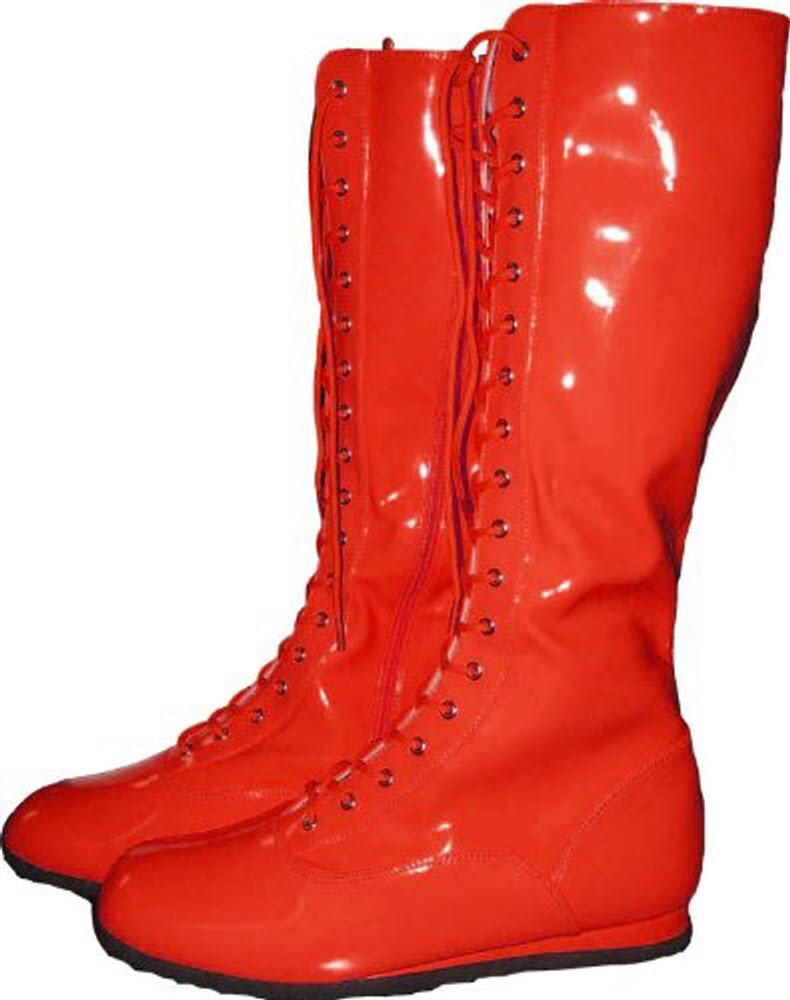 Red Adult Wrestling Boots-Adult Large by MyPartyShirt