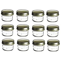 Nakpunar 12 Piece Mason Glass Jar Set, 4 Ounce