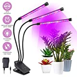 Grow Light, Plant Lights for Indoor Plants 30W 60 LED Plant Grow Lamp with Timer 3/6/12H Auto ON & Off, 10 Dimmable Levels, 3-Head 360 Degree Adjustable Gooseneck