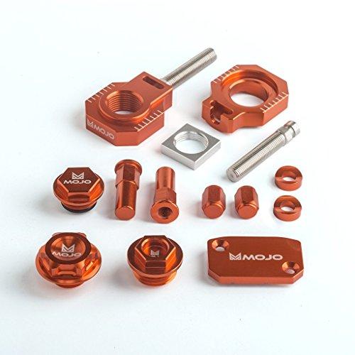 Mojo MOJO-KTM-BK2 Anodized Orange CNC Billet Bling Kit ()