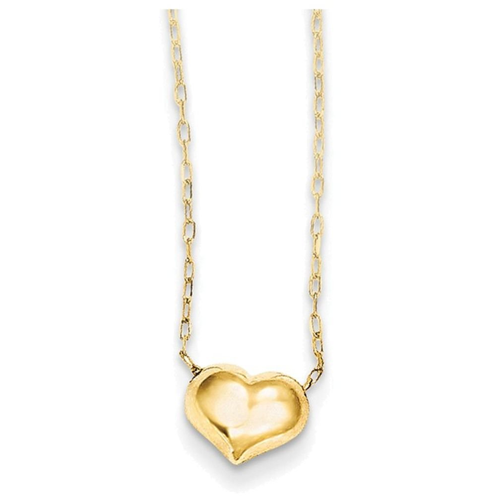 Finejewelers 16 Inch 14k Yellow Gold Madi K Small Hollow Heart W//Chain Children Necklace