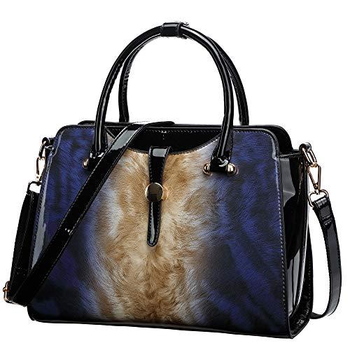 (Womens Patent Leather Satchel Handbags)