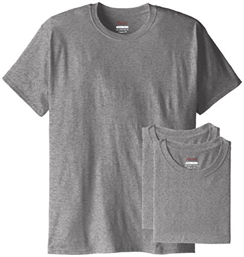 Hanes Men's 3 Pack Comfortblend Short Sleeve T-Shirt, Oxford Gray, Large - Oxford Gray T-shirt