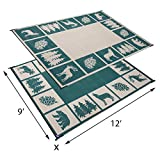 Reversible Mats 9-Feet x 12-Feet Outdoor Patio