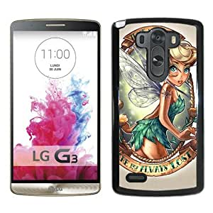 Host Sale LG G3 Case ,Fashion And Durable Designed With Lovely Tinkerbell Black LG G3 Cover