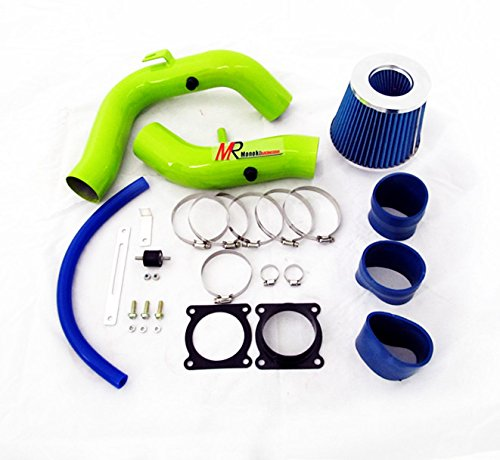 02 03 04 05 06 Nissan Sentra 2.5L L4 GREEN Piping Cold Air Intake System Kit with Blue Filter