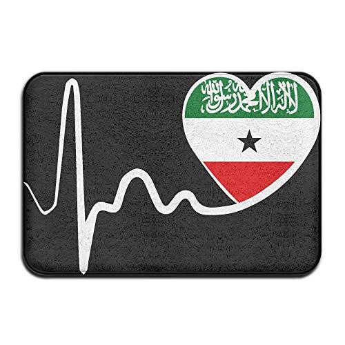 Somaliland Flag Heartbeat-1 Indoor Outdoor Entrance Rug Non Slip Car Floor Mats Doormat Rugs Home by HONMAt-Non