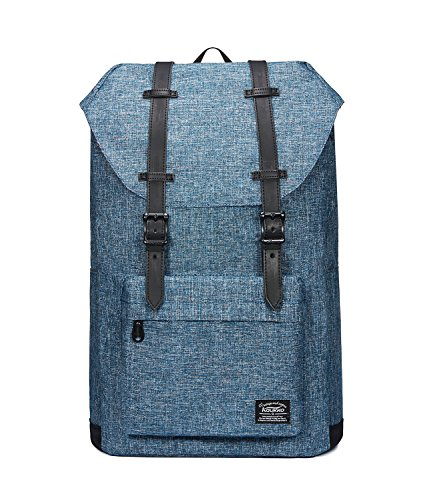 15 Linen (Laptop Outdoor Backpack, Travel Hiking& Camping Rucksack Pack, Casual Large College School Daypack, Shoulder Book Bags Back Fits 15