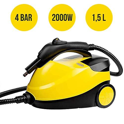 MovilCom® – Limpiador Vapor | Vaporeta Limpieza hogar | Máquina De Limpieza Vapor Alta presión 4 Bares – 2000W…