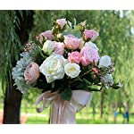 ELEGENCE-Z-Wedding-Flower-Bridal-Bouquets-Artificial-Rose-Flowers-4-Bouquets-with-48-Flower-Heads-Fake-Flower-Bouquet