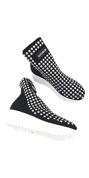 Gioselin Scarpa Donna Sneakers Flat Studs Borchie Nero Argento  Amazon.it  Scarpe  e borse 1f0cbccdb42