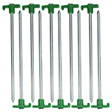 HTS 224N1 10 Pc Heavy Duty Green Tent Pegs/Lawn Stakes