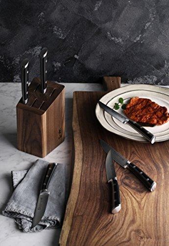 Cangshan TS Series1022261 Swedish Sandvik 14C28N Steel Forged 6-Piece Steak Knife Block Set, Walnut by Cangshan (Image #4)