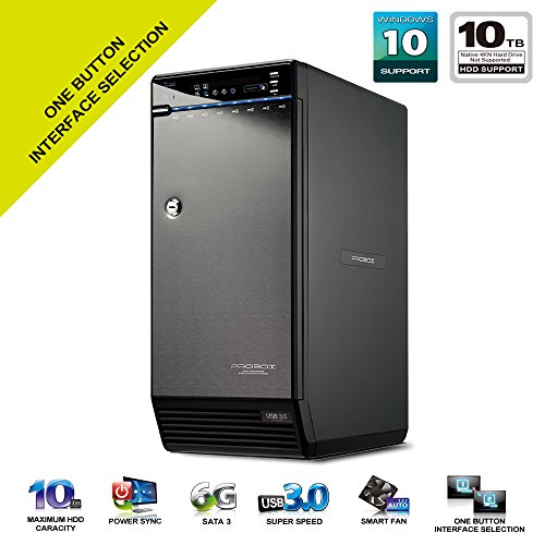 Mediasonic H82-SU3S2 ProBox 8 Bay 3.5'' Hard Drive External Hard Drive Enclosure - USB 3.0 & eSATA by Mediasonic
