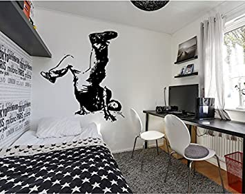 Wall Decal Sticker Bedroom Hip Hop Street Dance Music Melody Kids Teeneger  Room 085b