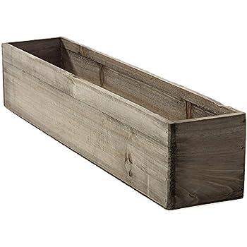 20 rectangular rustic wood planter with plastic liner - Wood Planter Box