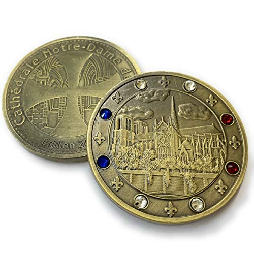 - Aizics Mint Notre Dame Collector Coin | 2019 | Beautiful Cathedral of Notre Dame | Stunning French Jewels & Detailed Craftsmanship 38mm x 3mm