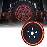 "Xprite 14"" Spare Tire Light 3rd LED Brake Rear Wheel Lights third tail Lamp for 07-18 Jeep Wrangler JK - Cyclone Series"