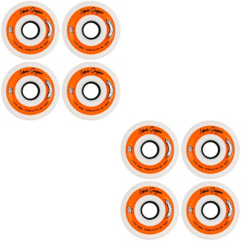 r Hockey Inline Wheels White 76mm Soft 78A 8 Pack ()