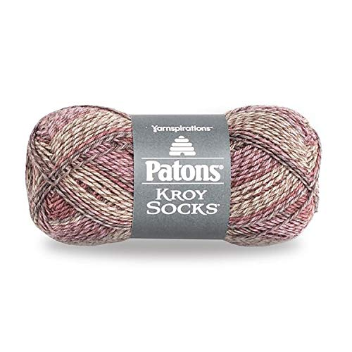 Patons Kroy Socks Yarn Brown Rose Marl