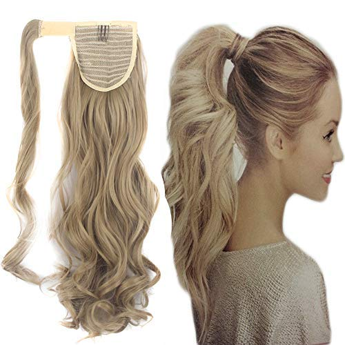 FUT Wrap Around Ponytail One Piece Clip in Curly Pony Tial Hair Extensions 18inch 90g for Girl Lady Women FUT@T805-USA-HSM-TW18-1