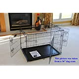 """EliteField 3-Door Folding Dog Crate with RUBBER FEET, 5 Sizes, 10 Models Available (3-Door Crate with Divider, 42""""L x 28""""W x 30""""H)"""