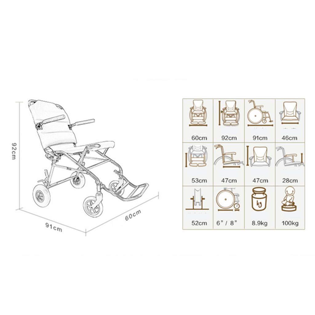 Silla de ruedas Rampas Scooter Trolley De Viaje para Personas Mayores De Peso Ligero Plegable Puede Estar En El Avión Rodamiento 100kg 8.9kg Trolley Ayudas ...