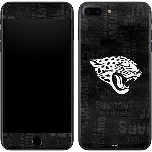 Skinit Jacksonville Jaguars Black & White iPhone 7 Plus Skin - Officially Licensed NFL Phone Decal - Ultra Thin, Lightweight Vinyl Decal Protection