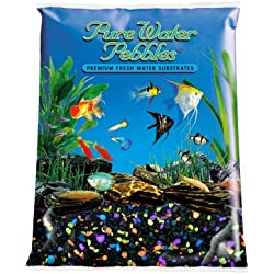 Pure Water Pebbles Aquarium Gravel, 5-Pound, Lasernite Glo
