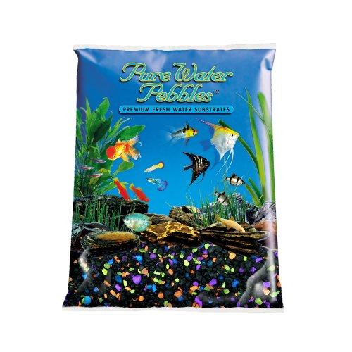 Pure Water Pebbles Aquarium Gravel, 5-Pound, Lasernite Glo by Pure Water Pebbles