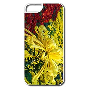 IPhone 5 5S Hard Plastic Cases, Autumn Flowers White Cases For IPhone 5S