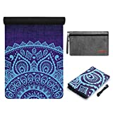 YOYI Travel Yoga Mat – Foldable Lightweight Fitness Mat, Non Slip Folding Mat for Pilates, Aerobics, Floor Exercises, 72″x 26″ Thickness 1/16 inch, with Carrying Bag